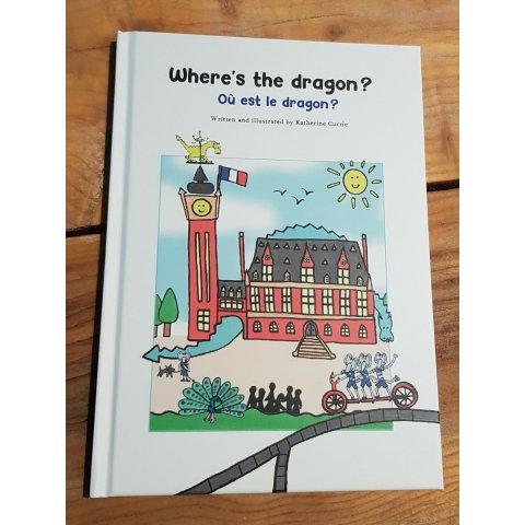 "Livre ""Where's the dragon?"" Où est le dragon?"