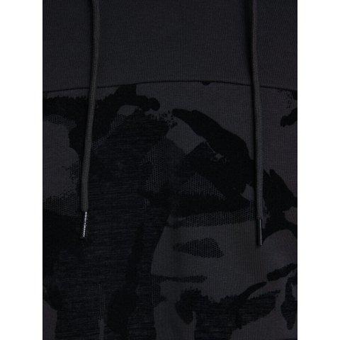 Sweat-shirt Homme Noir JACK&JONES à capuche en molleton avec imprimé S/2XL