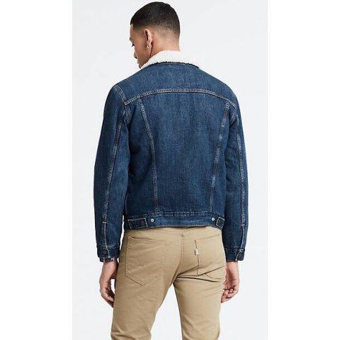 Blouson Homme en Jean's LEVI'S bleu Sherpa Trucker Jacket S/3XL