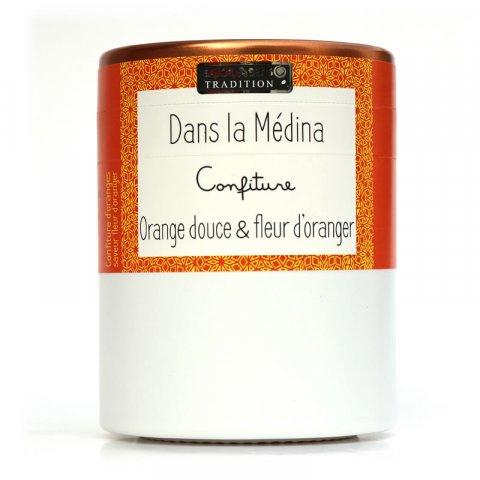Confiture DANS LA MEDINA-Spécialité à l'Orange douce & Fleur d'oranger