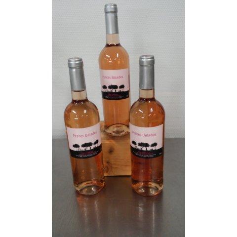 Vin rosé petites balades rosé 2017. 75cl
