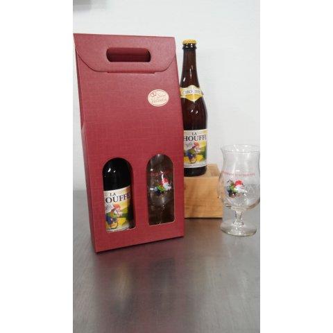 """Coffret bière"""" la chouffe """" 75 cl et son verre"""