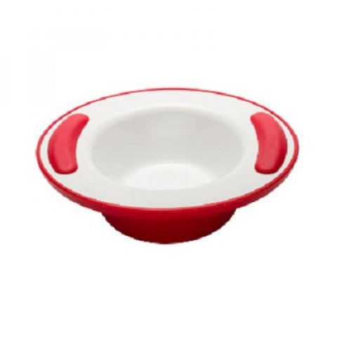 Assiette creuse isotherme Vital rouge.