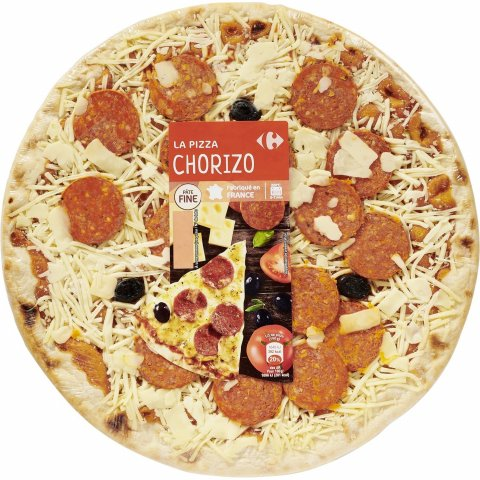 Pizza chorizo CARREFOUR