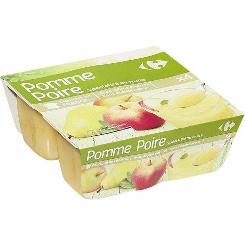 Compotes pomme poire CARREFOUR