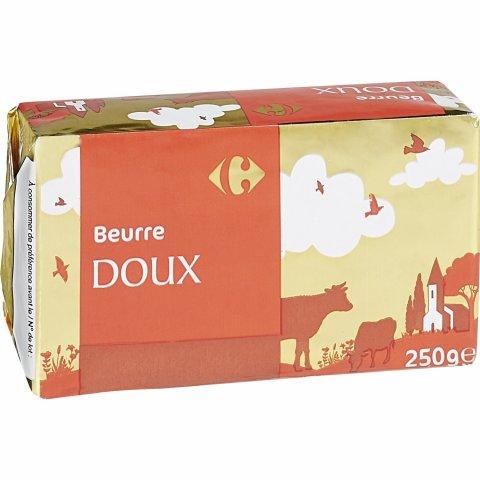 Beurre doux CARREFOUR