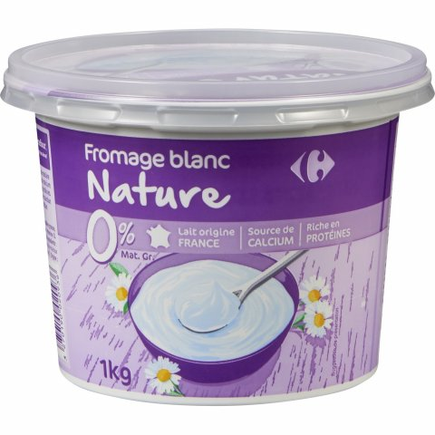 Fromage blanc nature 0% MG CARREFOUR