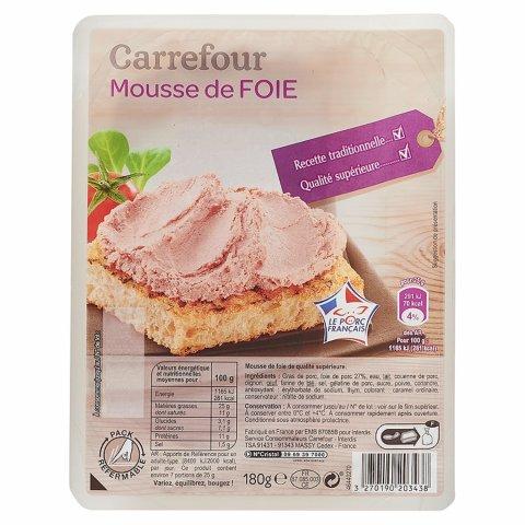 Mousse de foie CARREFOUR