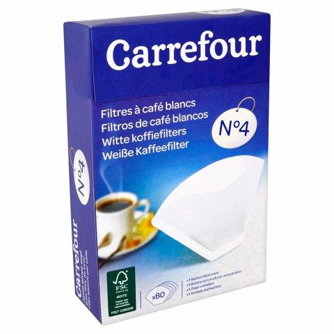 Filtres à café blancs n°4 CARREFOUR