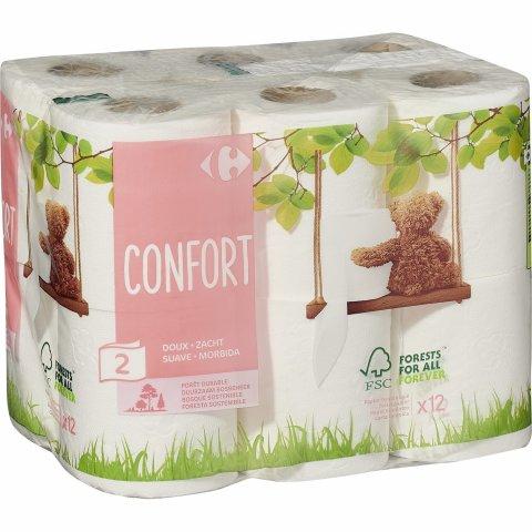 Papier toilette Confort doux CARREFOUR
