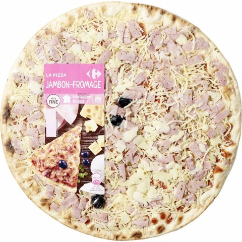 Pizza jambon fromage CARREFOUR
