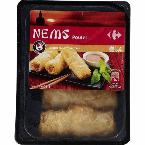 Nems poulet + sauce Nuoc mâm
