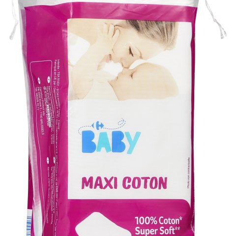 Coton carré baby super soft CARREFOUR