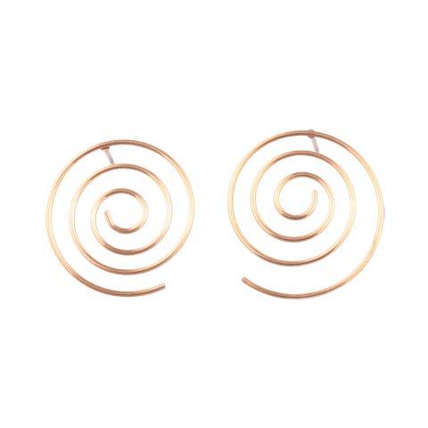 Boucles d'oreilles MILE MILA acier doré Tourbillonis