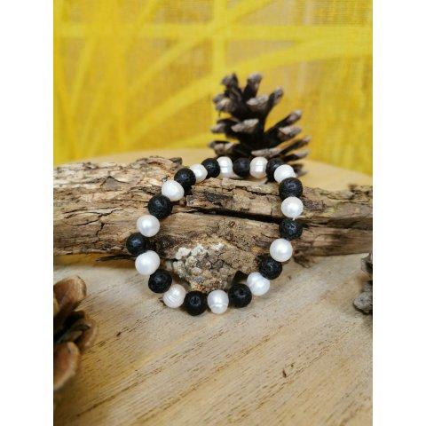 Bracelet Lithothérapie Amazonite et ses Perles