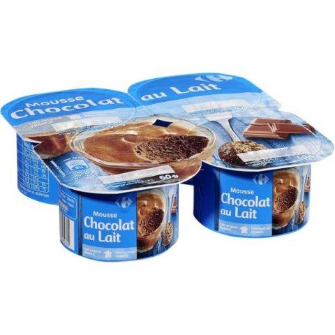 Mousse chocolat au lait. CARREFOUR