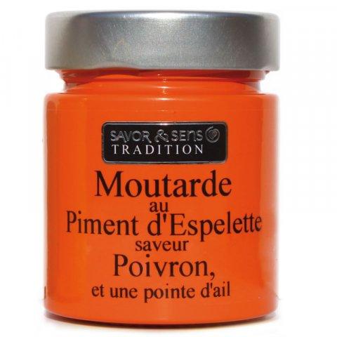 Moutarde saveur Poivron ail au piment d'Espelette