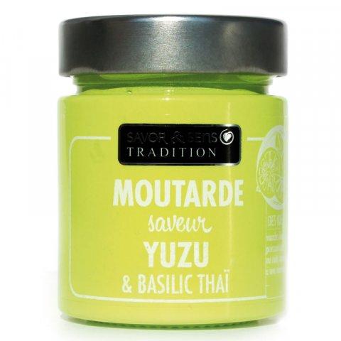 Moutarde saveur Yuzu et basilic thaï