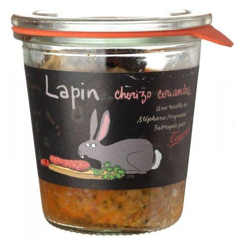 Terrine  Lapin Chorizo Coriandre. Teyssier