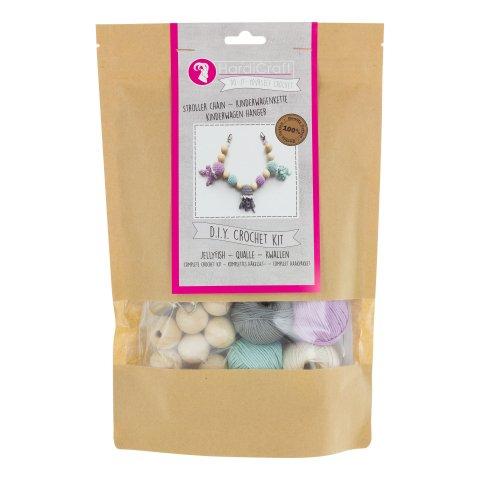Kit crochet- mobile chaîne pour bébé méduse