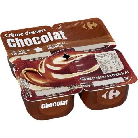 Crème dessert chocolat. CARREFOUR