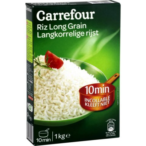 Riz long grain. CARREFOUR