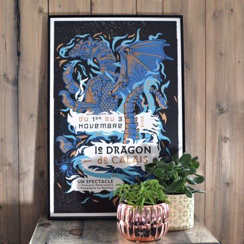 Affiche 'Le Dragon de Calais, un spectacle de François Delaroziere'