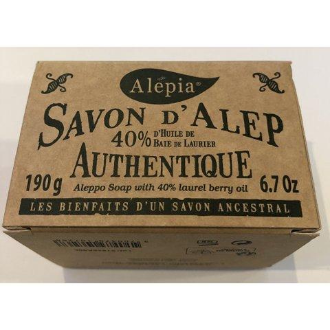 Savon d'Alep 40% de baie de laurier. Pain de 190g. ALEPIA.