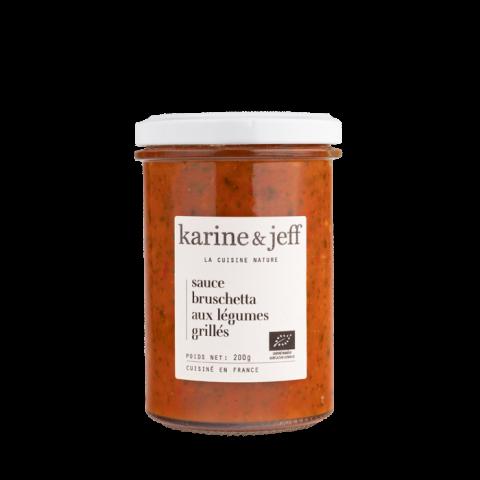 Sauce bruschetta aux légumes grillés bio