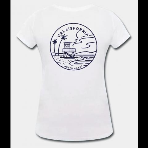 T-shirt Femme Calaisfornia Seaside Blanc