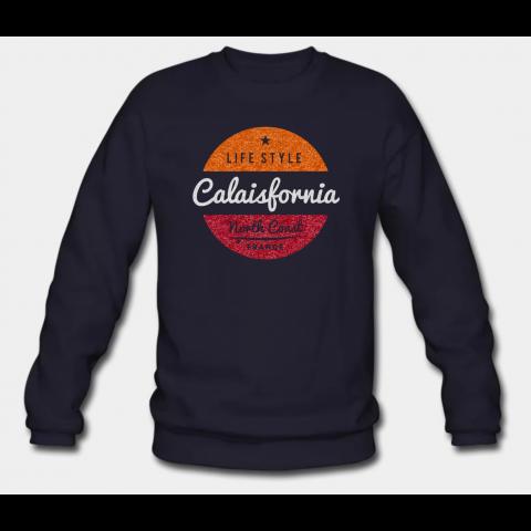 Sweat-shirt Calaisfornia Navy Homme
