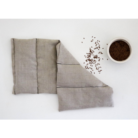 Grande bouillotte sèche en graines de lin - nature