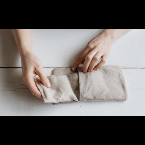 Petite bouillotte sèche en graines de lin- pois
