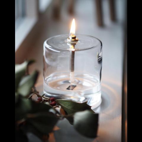 Lampe à huile PERI DESIGN - forme cylindrique - Grand modèle