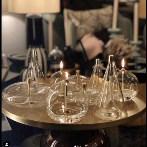 Lampe à huile PERID DESIGN - forme cylindrique - Moyen Modèle