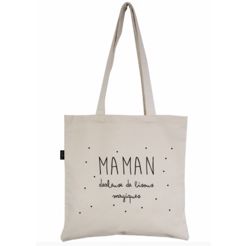 """Tote-Bag """"MAMAN dealeuse de bisous magiques"""""""