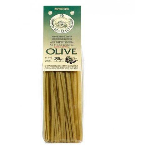 Pâtes au germe de blé aux olives Fettuccine Morelli - 250 gr Pâtes art
