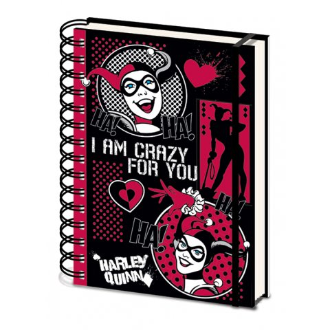 Carnet Bloc Notes A5 Harley Quinn Crazy for you