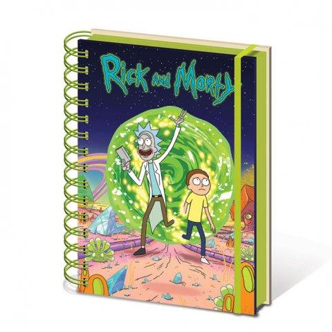 Carnet Bloc Notes Rick et morty Portail A5