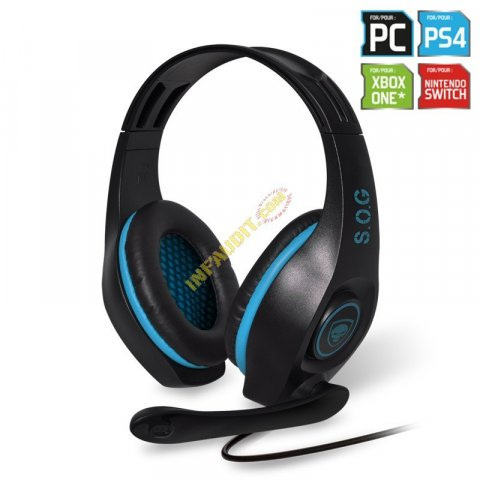 Casque micro S.O.G. PRO-H5 - Pour PS4/XBOX ONE PC/MAC/SWITCH