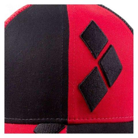 Casquette Harley Quinn logo noire et rouge
