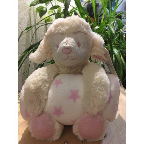"""Couverture et sa peluche mouton rose  """"King Bear"""""""