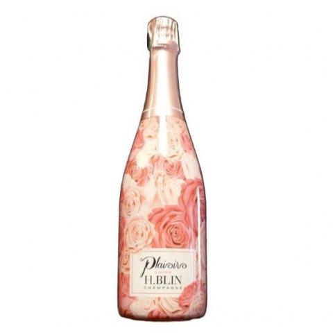 """Champagne rosé H BLIN  """"plaisirs d'offrir"""""""