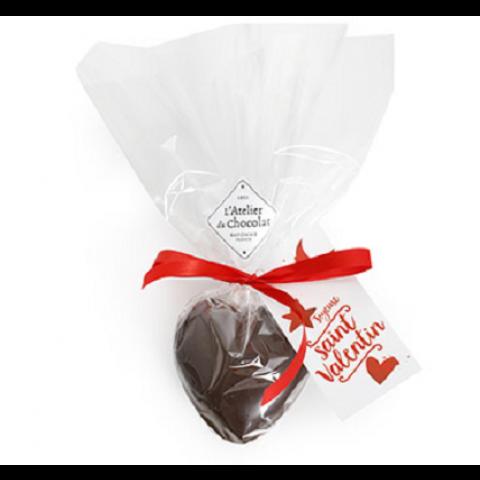 Coeur garni de truffes caramel. 70grs