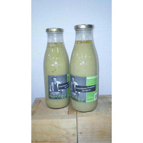 Soupe Poireaux, pommes de Terre. 74CL. Papy le Jardinier