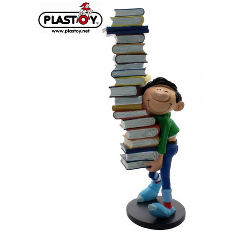 Figurine Gaston Pile de Livres