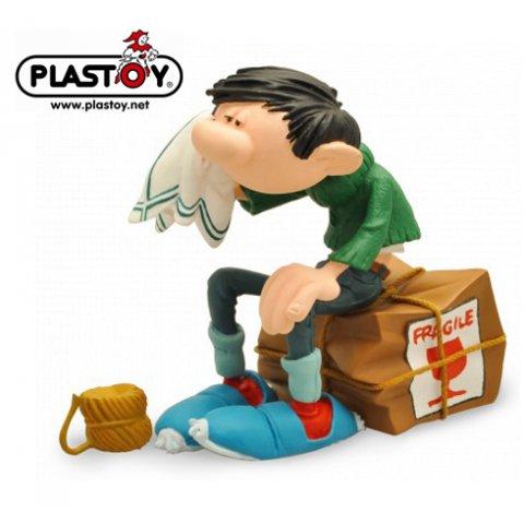 Figurine Gaston Caisse Fragile