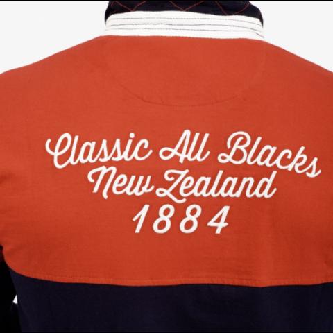 Polo Rugby Manches Longues Coach Bleu Marine - Classic All Black