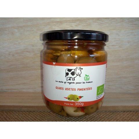Olives vertes pimentées Bio