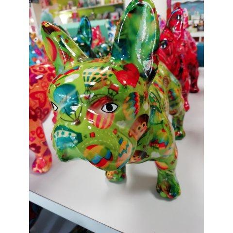 Tirelire chien vert kiki